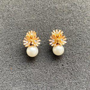 Kate Spade Daisy Pearl Stud Earrings